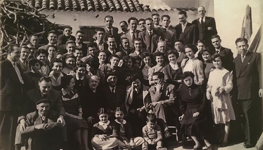 Trabajadores de la fábrica de queso y café Gregorio-Díaz Miguel S.A. Año 1954, Alcázar de San Juan